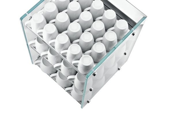 Glass Cup Warmer Top View